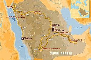 Étape par étape : le parcours détaillé du Dakar 2020