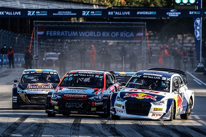 Latvia WRX: Gronholm survives contact to win first leg of double-header