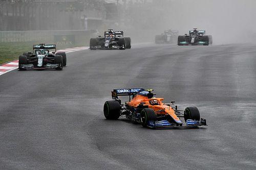El spray del GP de Turquía le causó miedo a Norris