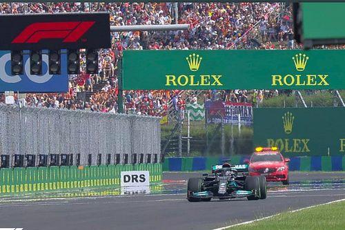 Vídeo: histórica resalida de Hamilton, y error de Mercedes