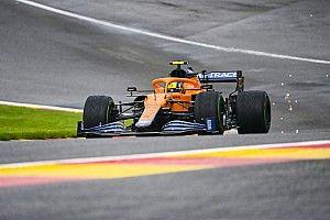 Kwalificatie GP België stilgelegd na zware crash van Norris