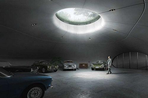 Este garaje subterráneo parece la guarida de un villano de Bond