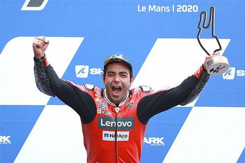 Petrucci gana en Le Mans en carrera con caída de Rossi
