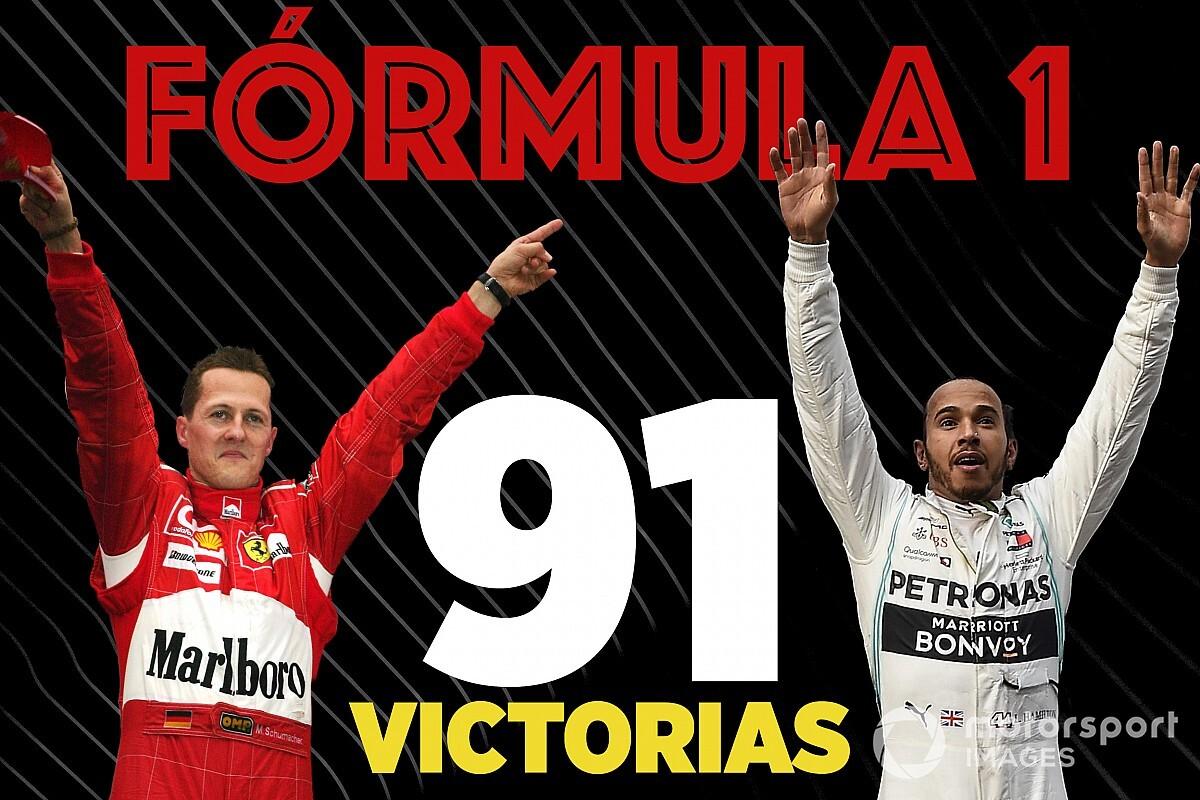 Cara a cara, las 91 victorias de Schumacher y Hamilton en F1