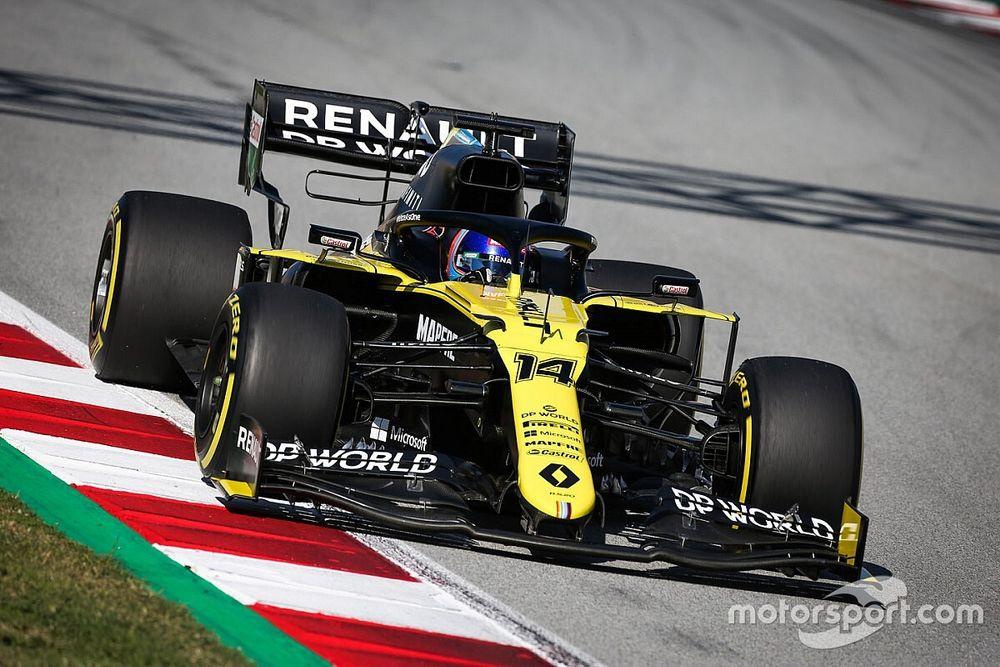 GALERÍA: el test de Alonso con Renault en Barcelona