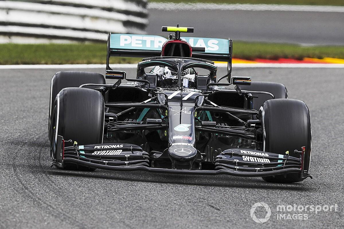 比利时大奖赛FP1:博塔斯以微弱优势领先汉密尔顿、维斯塔潘