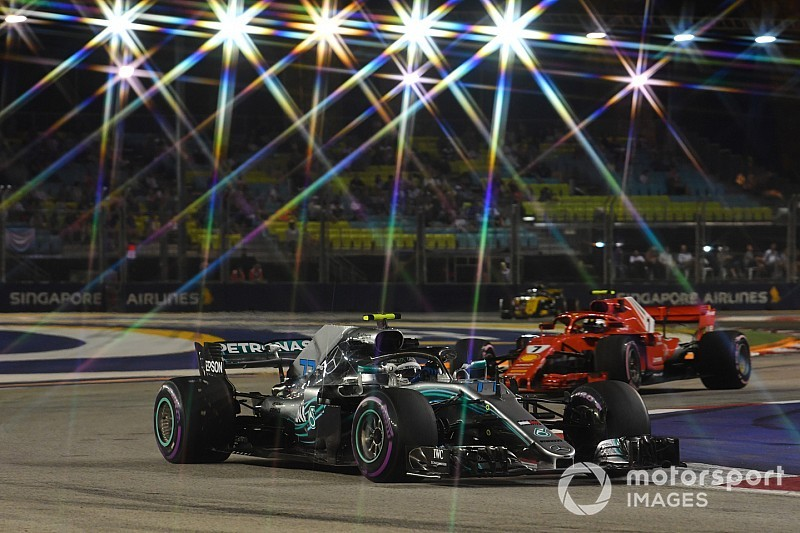 Bottas: Mercedes, Singapur'da son yıllardan daha güçlü olacak
