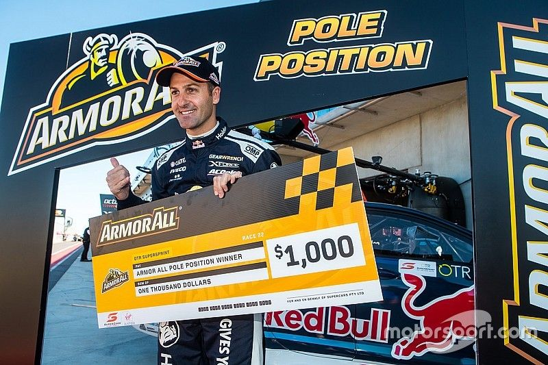 Tailem Bend Supercars: Whincup recovers from spin to claim pole
