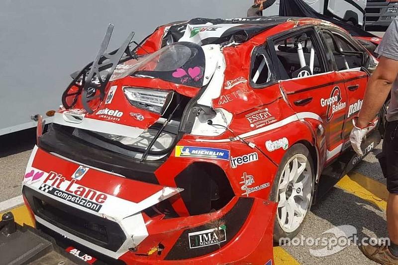 Incomprensione Scalvini-Baldan ad Imola: Nicola capotta 8 volte, clavicola e Hyundai K.O.!