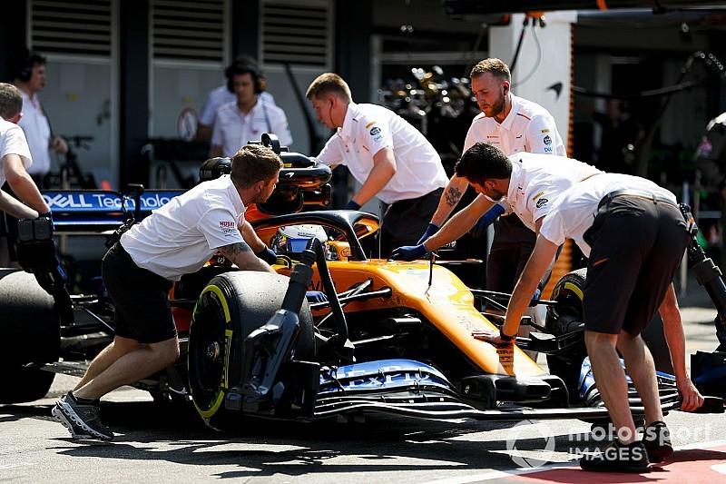 McLaren blames battery issue for Norris' Q1 exit