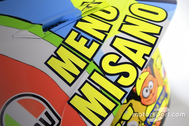 'Menú Misano', el nuevo casco de Rossi para el GP de San Marino