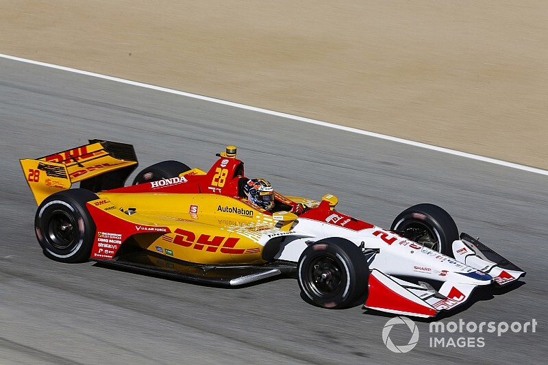 Laguna Seca IndyCar: Hunter-Reay tops second practice