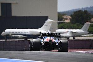 Alpine vuela alto en la F1 en Francia