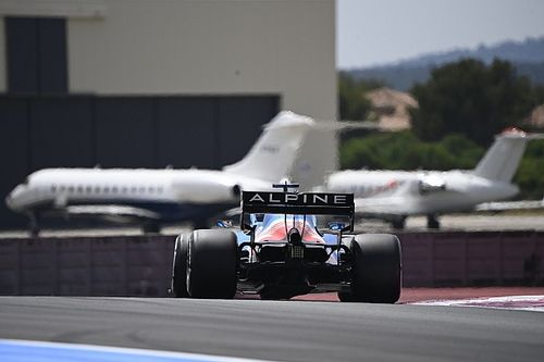 Alpine vuelta alto en la F1 en Francia