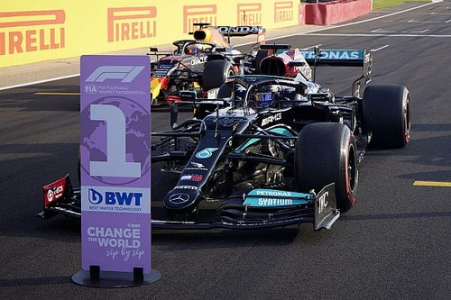 De startopstelling voor de F1-sprintkwalificatie op Silverstone