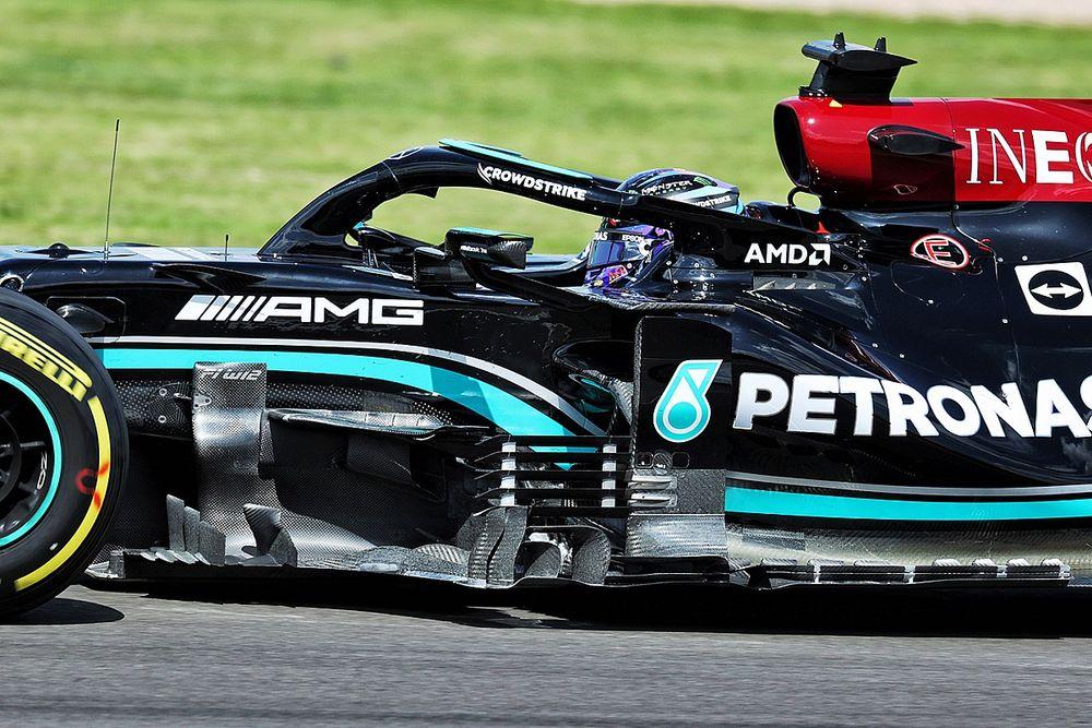 Как изменился болид Mercedes перед гонкой в Сильверстоуне?
