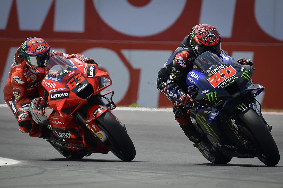Pour Bagnaia, ce n'est pas Yamaha qui domine mais Quartararo