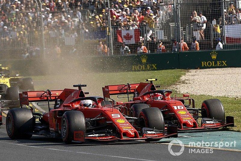 «Это даже решением не назовешь». Ferrari объяснила запрет на борьбу Леклера с Феттелем