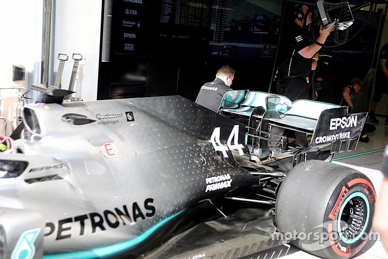 Mercedes: c'è una nuova ala posteriore sulla W10