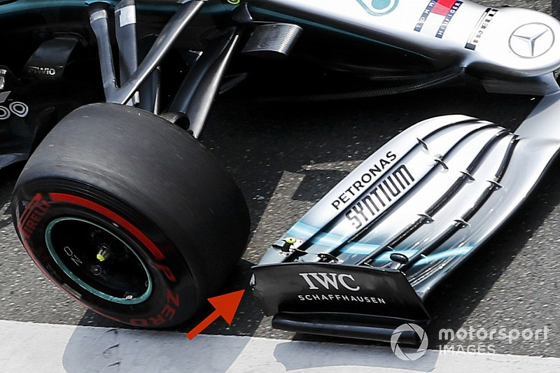 Mercedes had to modify front wing after FIA ruling