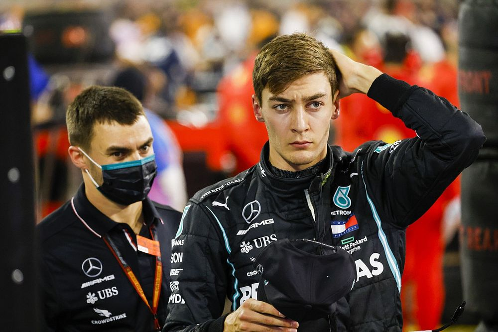 George Russell Tes Ban F1 2022 bersama Mercedes