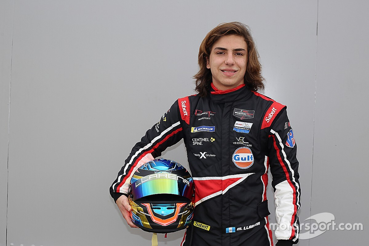 Mateo Llarena, de Guatemala y con 16 años, listo para las 24 Horas de Daytona