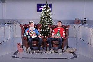 Verstappen és Albon karácsonyi hangulatban, közben pedig sírnak a nevetéstől (videó)