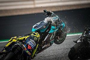 GALERIA: O grave acidente de Morbidelli e Zarco na MotoGP em fotos e vídeos