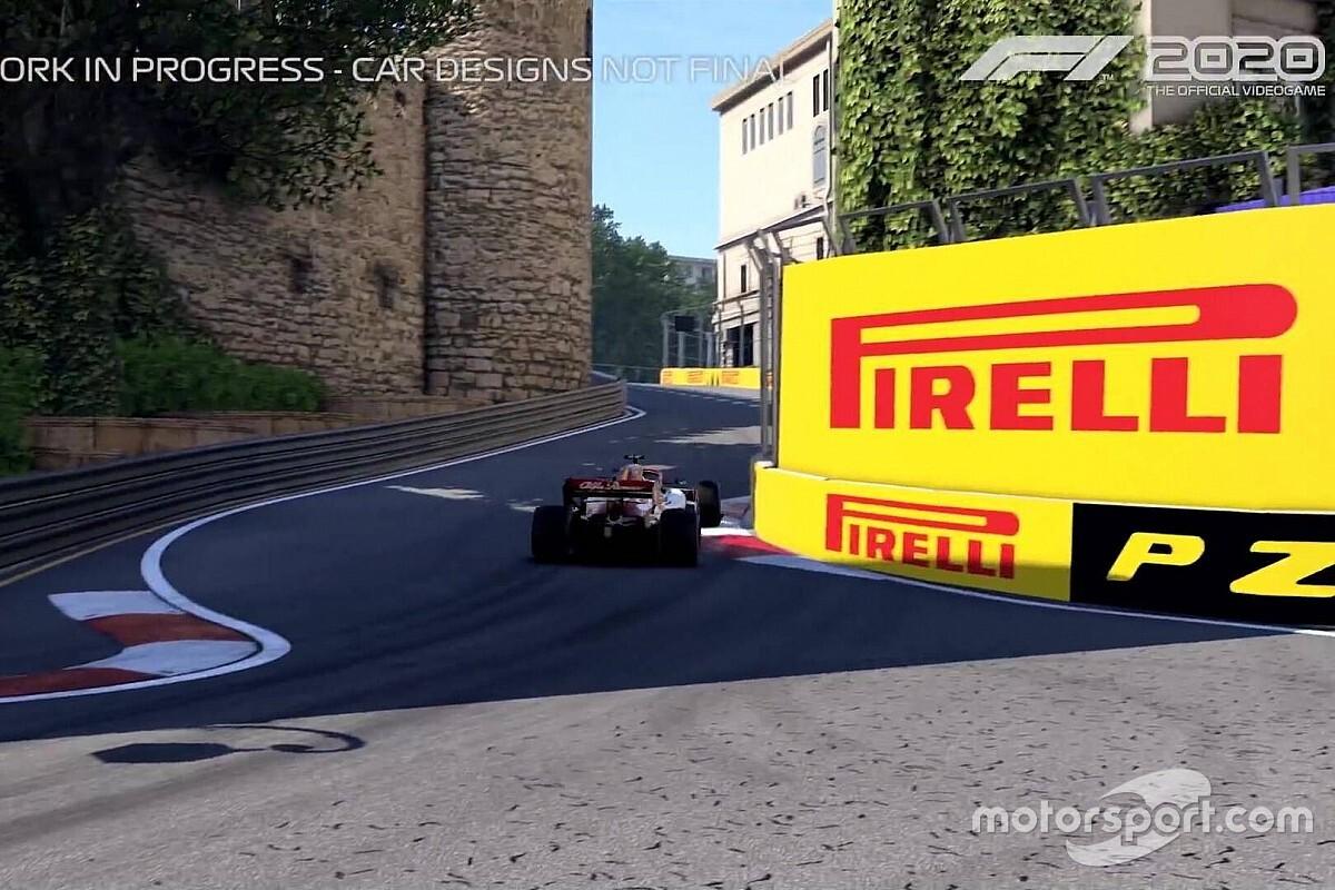 Ilyen egy kör az F1 2020-ban a bakui pályán! (videó)