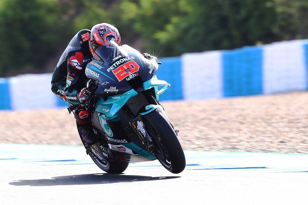 Quartararo, a ritmo de récord en Jerez; incidente entre Márquez y Rins