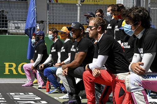 Hamilton over diversiteitscampagne F1: 'Geen woorden, maar daden'