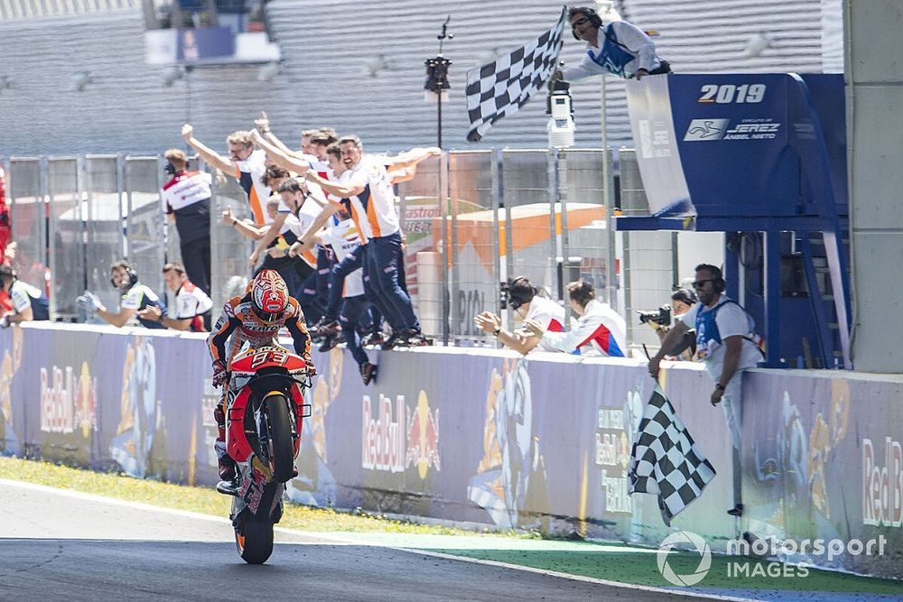 El semáforo del Gran Premio de España de MotoGP