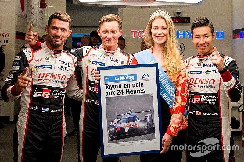"""24h di Le Mans, Kobayashi in pole...storcendo il naso: """"Sono deluso, si poteva fare meglio!"""""""