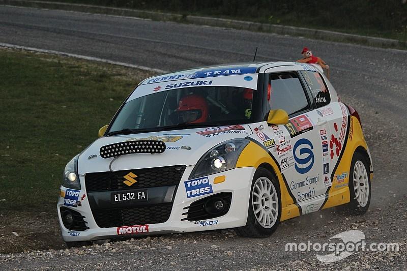 Suzuki Rally Trophy: Scalzotto ha sostituito i freni al parco assistenza