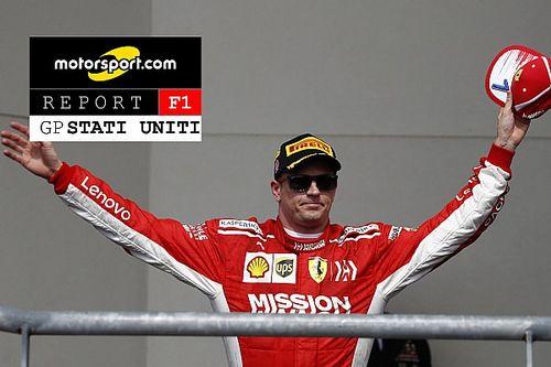 Motorsport Report: negli Usa la Ferrari sogna con Raikkonen, soffre con Vettel