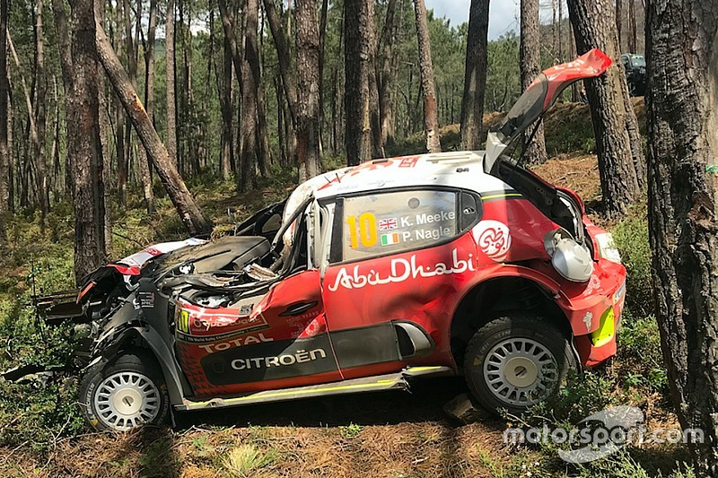 "Meeke ""grateful"" to Citroen after huge Portugal crash"