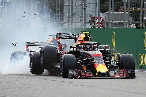 GALERI: Kecelakaan duo Red Bull di GP Azerbaijan