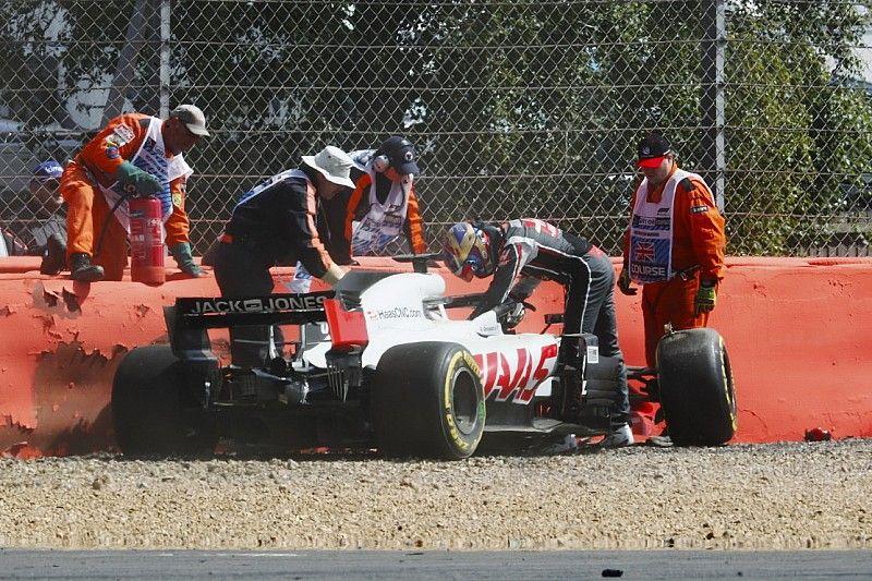 Grosjean mist tweede vrije training op Silverstone na harde crash