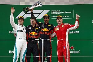 Formula 1 Race report GP Tiongkok: Perjudian berhasil, Ricciardo menangi balapan penuh drama