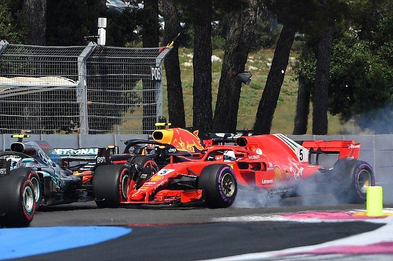 Vettel dice que se quedó sin espacio en el choque con Bottas