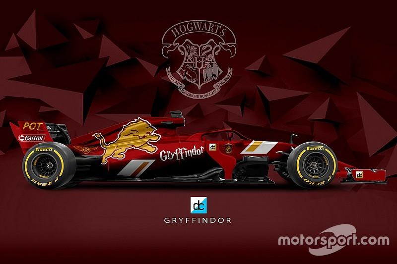 Así serían los coches de F1 en el colegio Hogwarts de Harry Potter