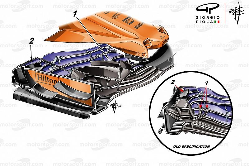 McLaren'ın Monaco'da yarışma riskine girmediği yeni ön kanadı