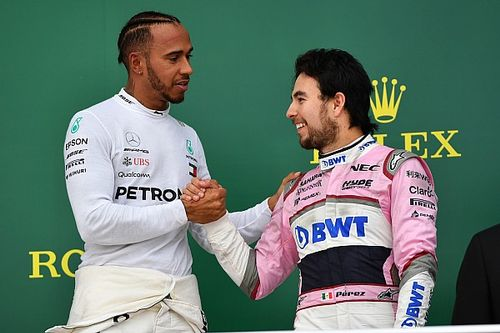 """Pérez: """"Hamilton a legjobb versenyző, aki ellen büszkeség versenyezni"""""""