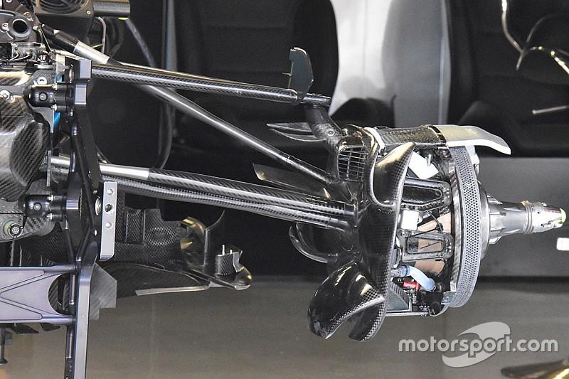 Mercedes: copiato dalla Sauber il profilo verticale sulla sospensione