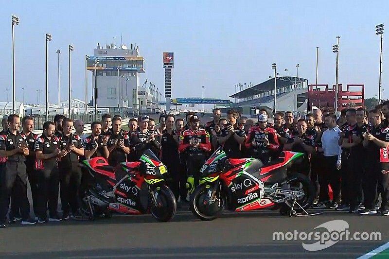 GALERIA: Aprilia revela novo modelo para temporada 2020 da MotoGP