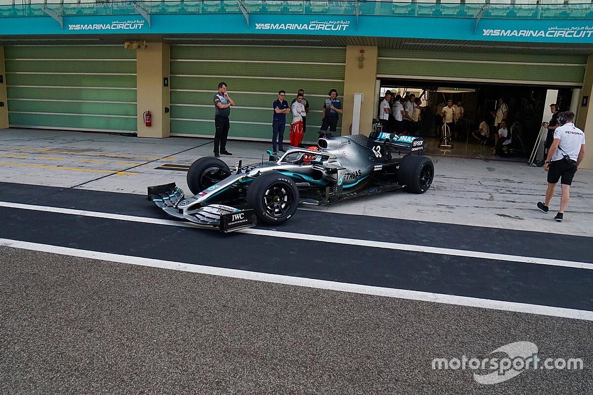 Russell ve Mercedes, 2019'un son testini tamamladı
