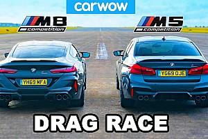 Egy motor, két modell: Gyorsulási verseny a BMW M5 Competition és az M8 Competition között (videó)