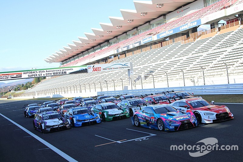 Makino tops joint Super GT/DTM test at Fuji