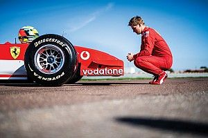 Mick Schumacher drives Ferrari F2002 at Fiorano, ahead of auction