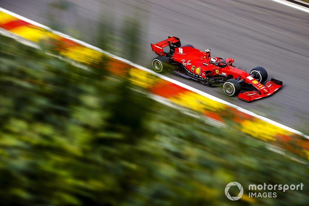 """Leclerc surpris et """"triste"""" face au rythme de Ferrari à Spa"""